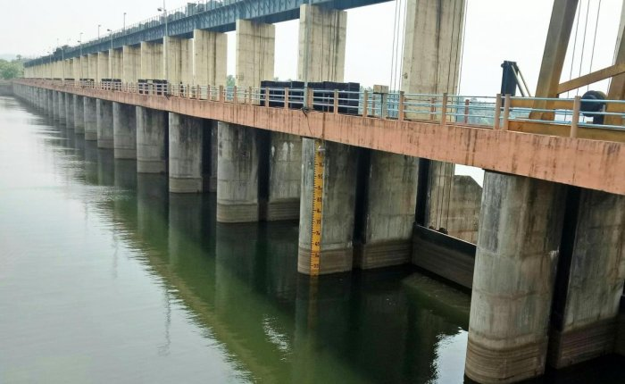 A view of the Thumbe vented dam.