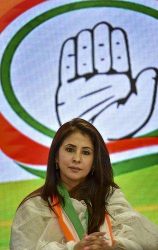 Matondkar is the Congress' candidate from Mumbai North Lok Sabha constituency. PTI File photo