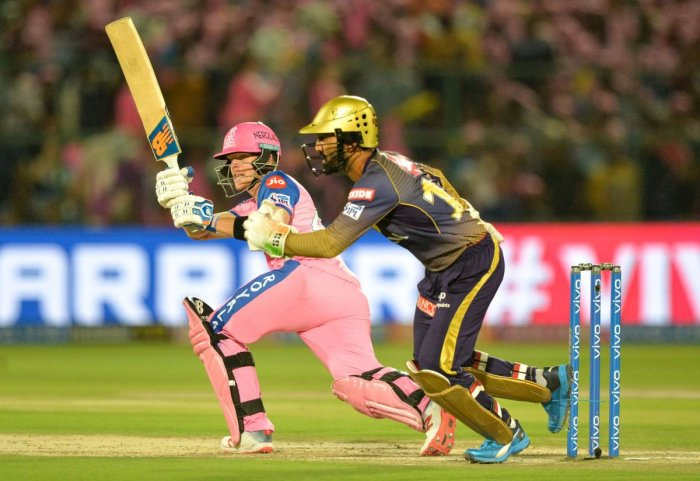 Rajasthan Royals' Steve Smith scored his first half-century of this edition against Kolkata Knight Riders on Sunday. AFP