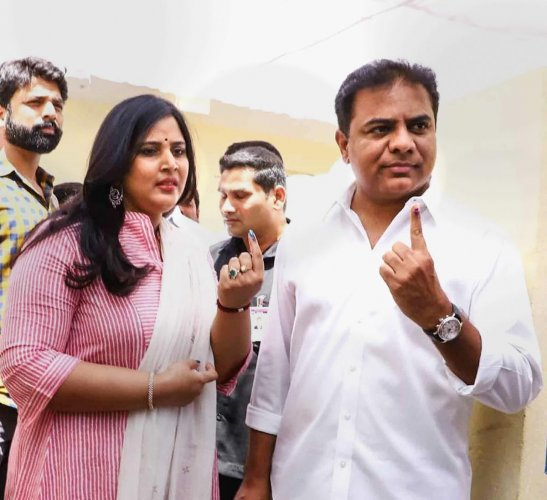"""KTR, who strategized party plans, selection of candidates, and led the campaigning, has through a tweet thanked Telangana people for reposing faith in CM KCR and termed the result as """"no mean feat."""""""