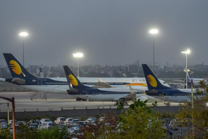 A Jet Airways source told AFP that all of Jet's international flights out of and into India until Monday had been scrapped, extending a series of cancellations announced on Thursday. PTI File photo