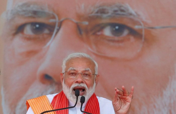 """""""Till Modi is here, no one can change reservations, given to us by Dr Babasaheb Ambedkar,"""" the prime minister said. (PTI Photo)"""