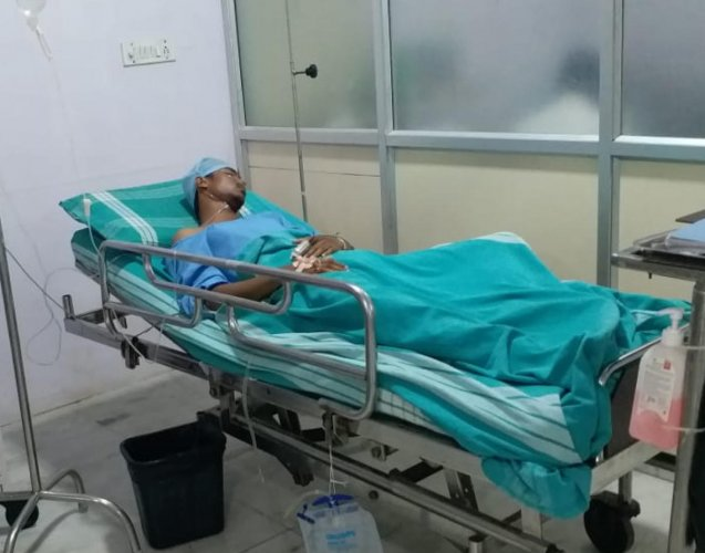 Mohammed Tanveer in a hospital.