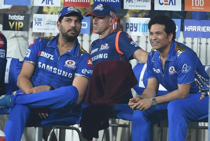 The dual roles of Sachin Tendulkar (right) as Mumbai Indians' 'icon' and as a member of the BCCI's Cricket Advisory Committee has raised conflict of interest questions. PTI
