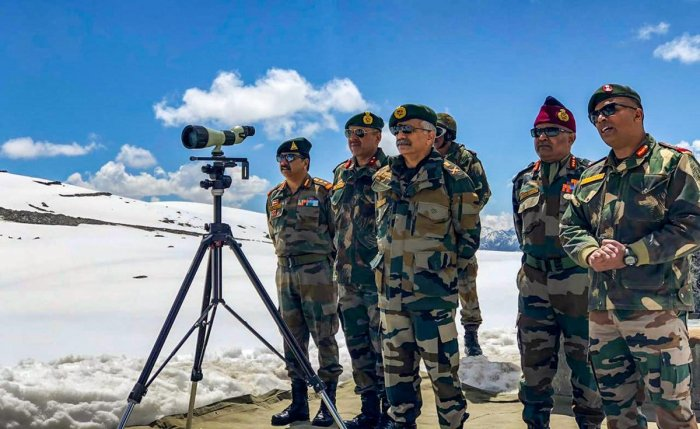 General Officer Commanding-in-Chief Eastern Command, Lt Gen M M Naravane, reviews the security situation and operational preparedness in the border areas of Arunachal Pradesh, in Tawang, on April 27, 2019. PTI file photo