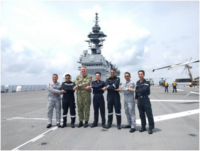 Group Sail by Indian, US, Japan and Philippines warships in the South China Sea
