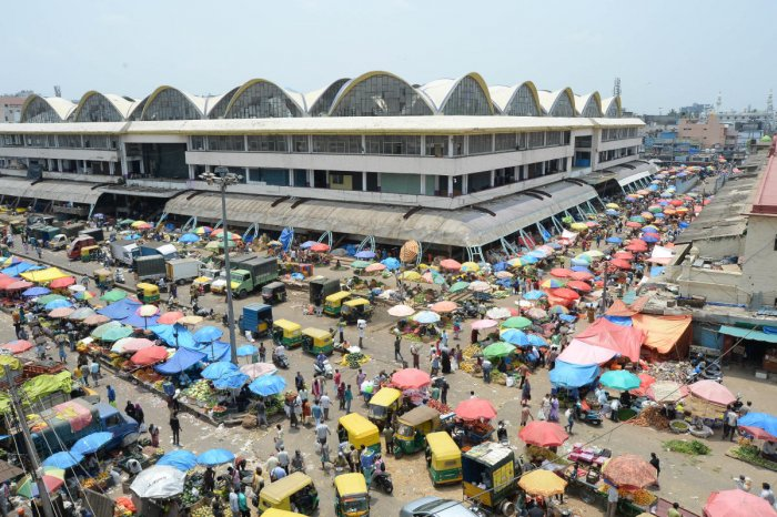 Contractors feel KR Market is unsafe and the building materials could be stolen from the premises. DH FILE PHOTO