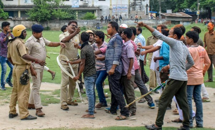 BJP workers staged road and rail blockade at several places in the district in protest against the incident. PTI Photo