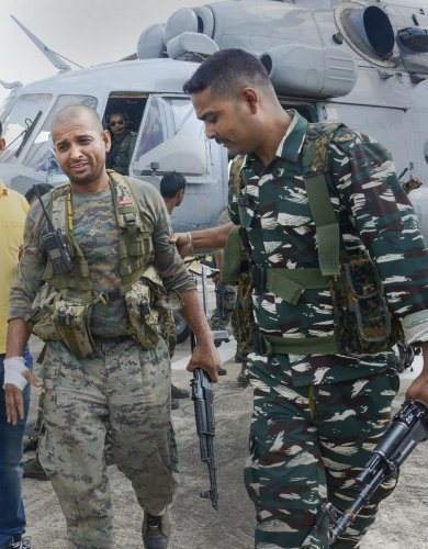 A CRPF jawan was killed in an improvised explosive device (IED) blast triggered by Naxals (PTI File Photo)