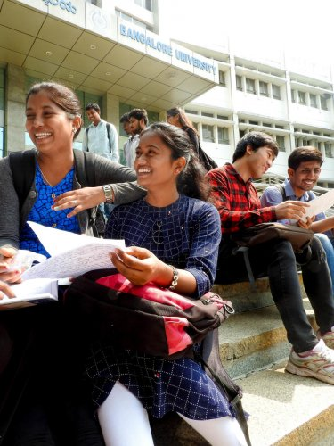 As many as 482 PhD seats are available in Bangalore University this year. DH PHOTO