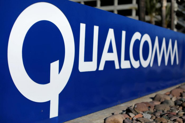 A sign on the Qualcomm campus is seen in San Diego, California on November 6, 2017. (REUTERS File Photo)