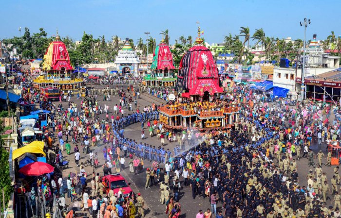 The Puri district police would be checking all the passenger buses arriving or halting in the temple town in every two hours. PTI photo