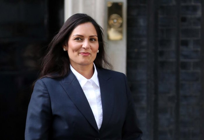 Britain's new Secretary of State for the Home Department Priti Patel leaves 10 Downing Street in London on July 24, 2019. (AFP)
