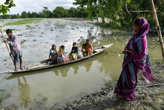 A representational picture of the Assam flood. Photo credit: PTI
