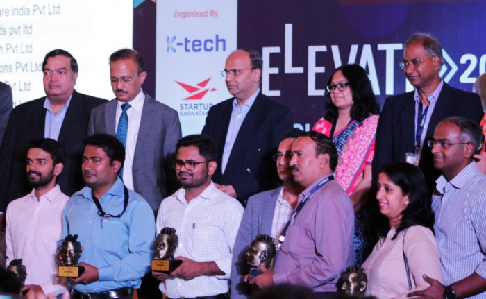 The winners of the Elevate 2019 programme in Bengaluru on Wednesday.
