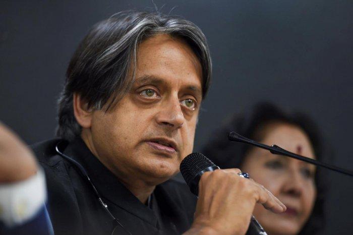 Congress leader Shashi Tharoor. PTI Photo