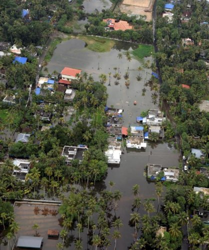 A view of a flood-affected region in Malappuram district of Kerala. PTI