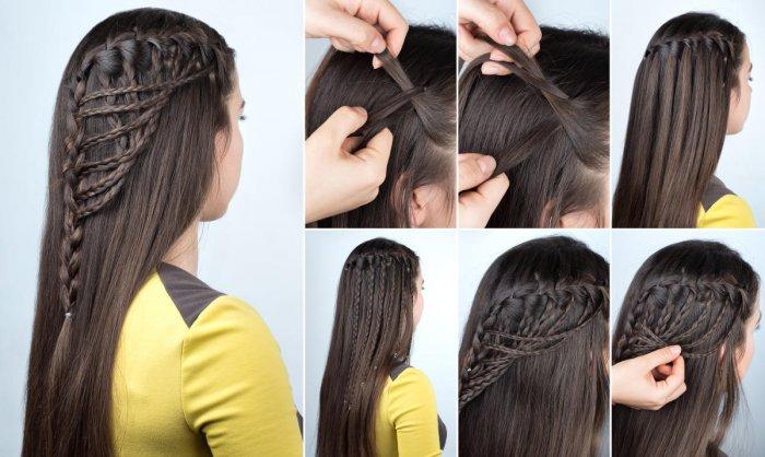 A waterfall braid hairstyle
