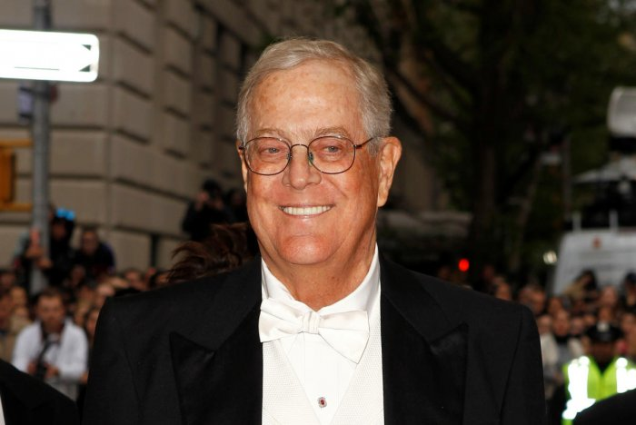 Koch retired last year as executive vice president of Koch Industries, the conglomerate he co-owned with his older brother and built into the second-largest family-owned company in the United States. (Photo credit: Reuters)