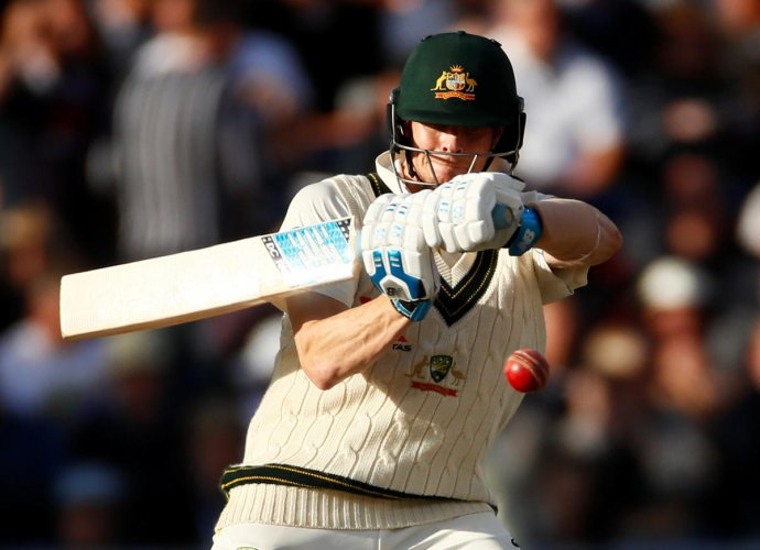 Smith has returned from his one-year ban for the Newlands ball-tampering scandal in quite sensational form and hit his ninth consecutive Ashes half-century with a knock of 82 on Saturday. (Reuters Photo)