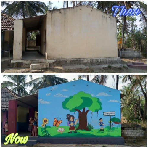 The organisations have already beautified over 18 schools for the past one year at 18 villages in Bengaluru Rural district. Special arrangement