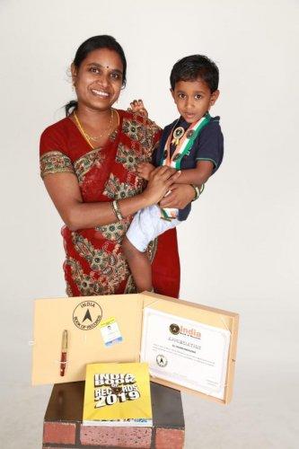 Tarun with his mother Vasanthi Annamalai.