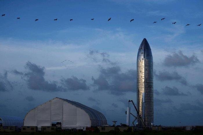 A prototype of SpaceX's Starship spacecraft (Reuters Photo)