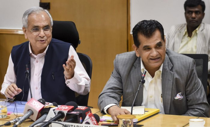 The report was released by Niti Aayog Vice Chairman Rajiv Kumar and Chief Executive Officer Amitabh Kant here. (PTI File Photo)