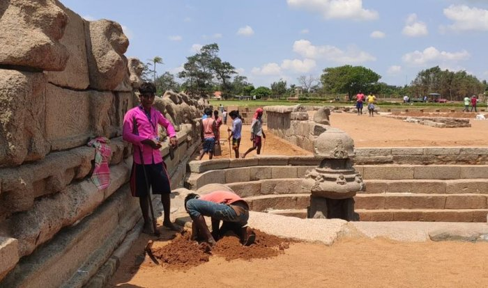 Mamallapuram - archaeological site in Tamil Nadu (Photo by ETB Sivapriyan)