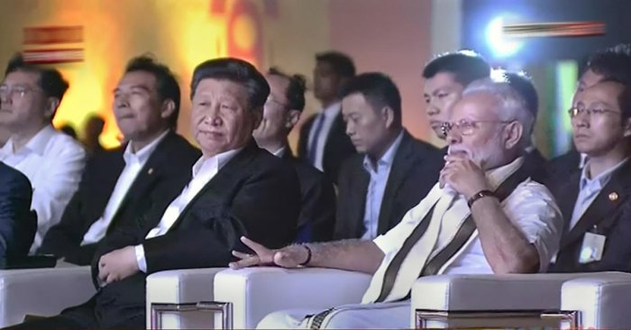 Prime Minister Narendra Modi with Chinese President Xi Jinping during a cultural function, in Mamallapuram, Friday, Oct. 11, 2019. (PTI Photo)