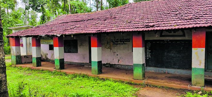 The building of the government higher primary school at Venkatipete village in Belur taluk, Hassan district, started in 1946. The school has been closed for the past five years.