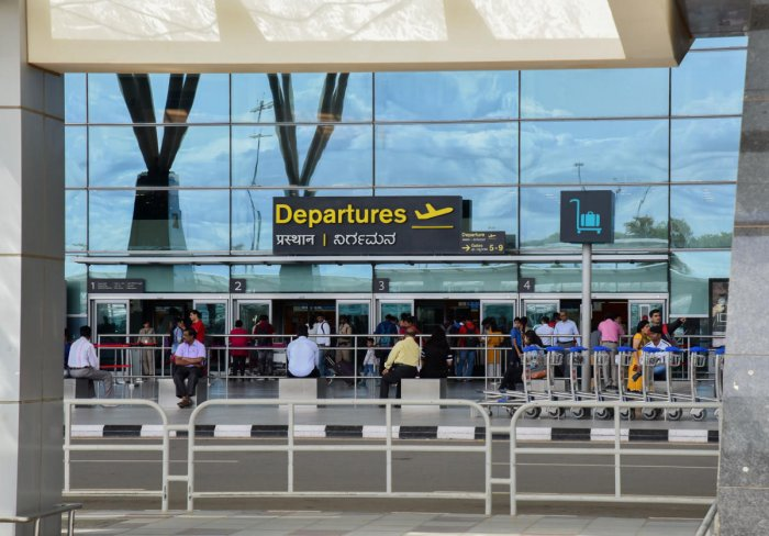 The Kempegowda International Airport is the third busiest airport in India. DH FILE PHOTO