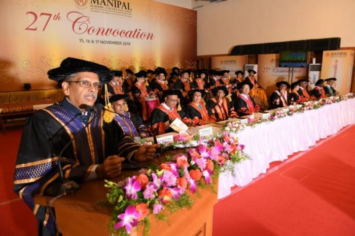 S Gopalakrishnan (Kris), Chairman of Axilor Ventures Pvt Ltd (Bengaluru), delievered convocation address at the 27th Convocation of Manipal Academy of Higher Education in Manipal.