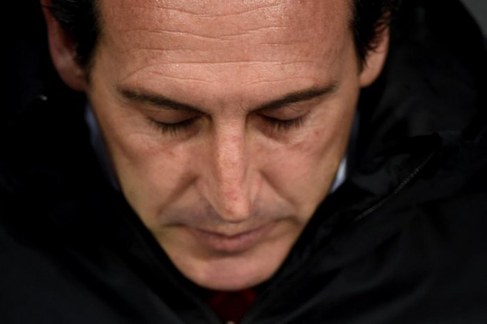 In this file photo taken on November 06, 2019 Arsenal's Spanish head coach Unai Emery gestures before the UEFA Europa League Group F football match between Vitoria Guimaraes SC and Arsenal FC. (AFP Photo)