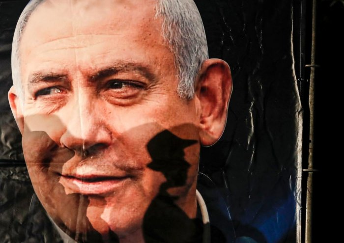 Early polls suggest Netanyahu's Likud party could still be near level with Gantz's Blue and White.