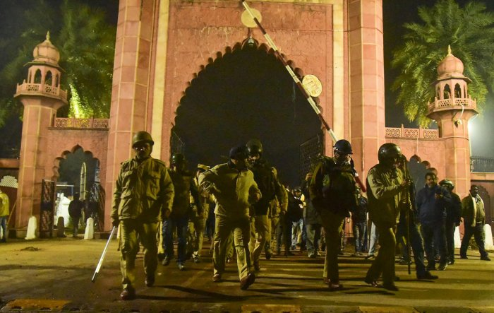 The District Magistrate of Aligarh has issued red alert in the area around Aligarh Muslim University amid Citizenship Amendment Act protest.
