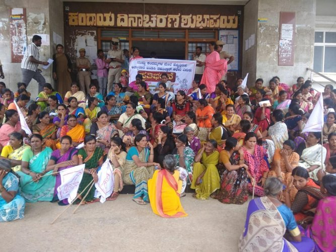 A recent protest in Mandya against the increasing crime against children.