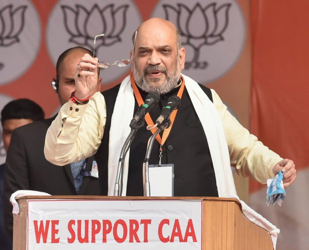 Seeking votes for the BJP during an election meeting at Bhatti Mines Sanjay Colony(Chhatarpur), Shah said the refugees from Pakistan, Bangladesh and Afghanistan have as much right over the country as its other citizens.