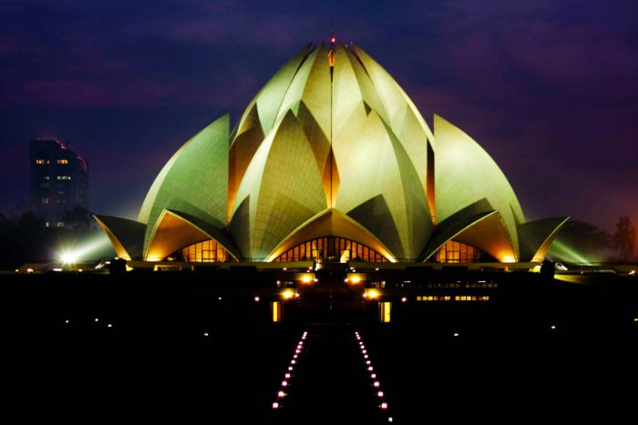 Delhi's Baha'i House of Worship. PHOTOS BY AUTHOR