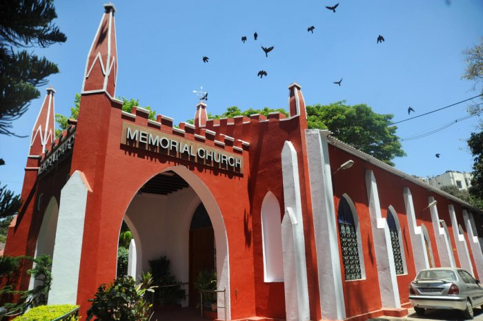 The Memorial Church in Bengaluru played its part in soothing the horrid effects of the famine of 1876-77 in the state. DH Photo by Pushkar V