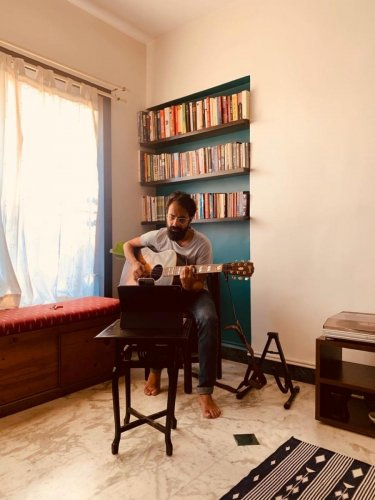 Ankur Tewari, who has been holding Instagram concerts regularly, says music can help people cope with anxiety during such situations.
