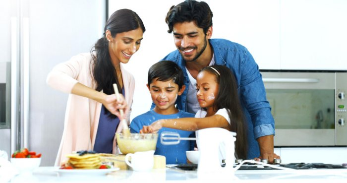 Children may be asked to spend some time helping in the kitchen, and every aspect of kitchen activity should be correlated to all the subjects that they are studying.