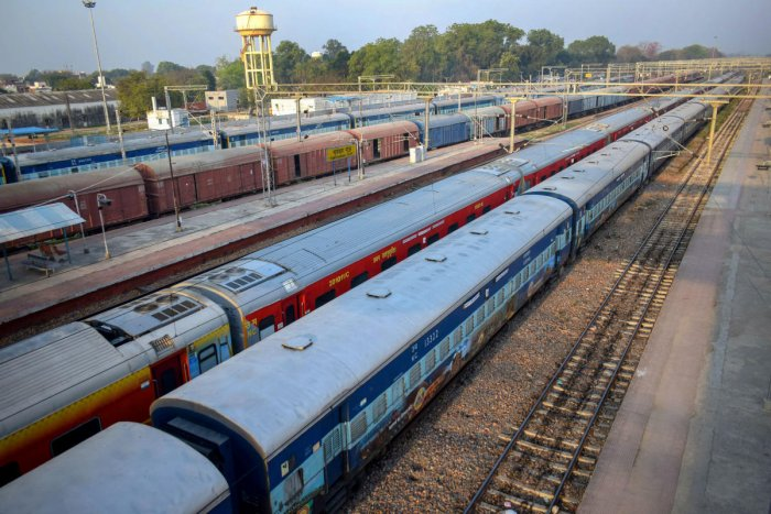 Indian Railways has suspended all passenger services until March 31 and only goods trains will run during the period. The suspension includes all suburban train services. Although, trains that commenced their journey prior to 4 am on March 22 will complete their journeys. (PTI Photo)