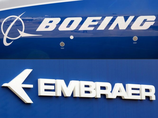 Boeing announced on April 25, 2020, it was pulling out of a $4.2 billion deal to acquire the commercial plane division of its Brazilian rival Embraer. The companies had planned to form a joint venture in which Boeing would take an 80 percent stake in that division. The deal had been due to be finalized no later than April 24. (Photos by AFP)