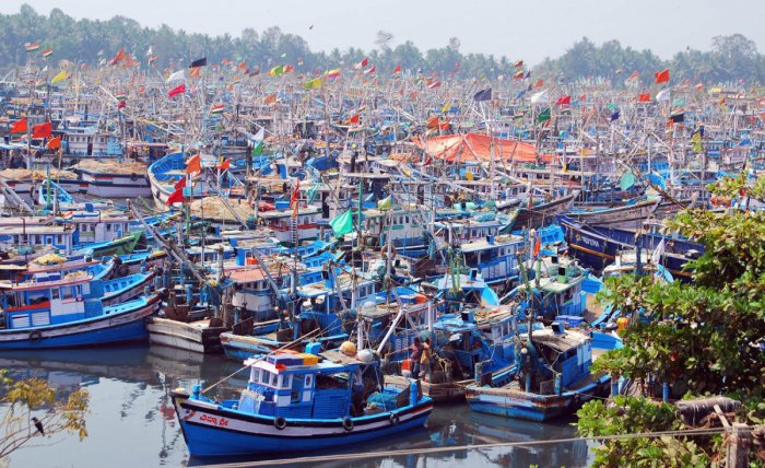 A file photo of boats anchored at Malpe port