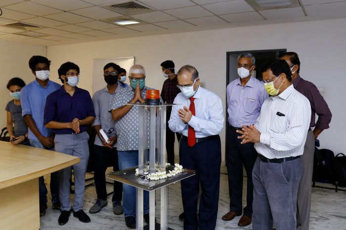 Vanora Robot, an innovative anti-COVID disinfecting robot was inaugurated at Tejaswini Hospital in Mangaluru.