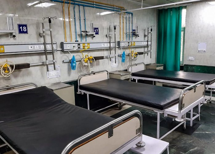 The three — all men aged between 24 and 48 — were admitted on Monday and their samples have been sent for testing to ICMR-NIV laboratory in Pune, said Minakshi Bhardwaj, the hospital's medical superintendent. Credit: PTI Photo