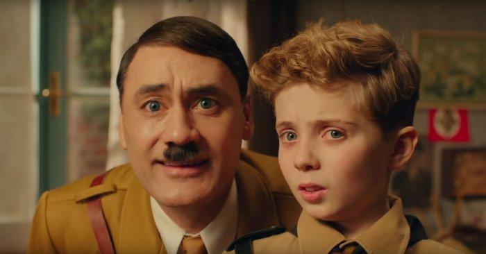 Taika Waititi as Adolf Hitler and Roman Griffin Davis as Jojo Betzler in 'Jojo Rabbit'. Photo: Screenshot/YouTube
