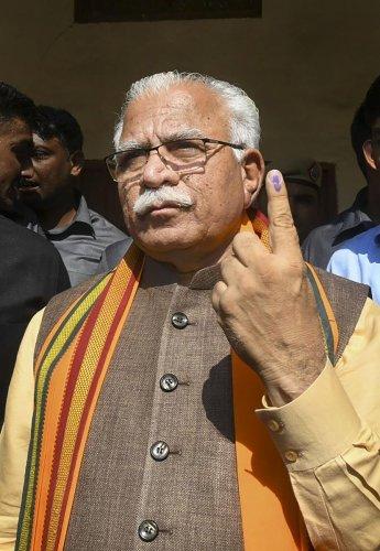 Khattar said Chautala would take oath as the deputy chief minister.