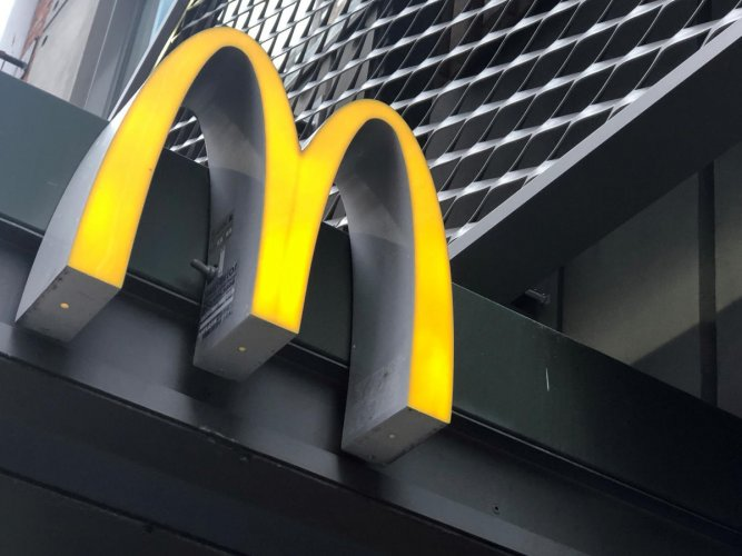 """McDonald's tried to cash on a section of the youngsters' perceived disliking of vegetables like """"ghiya and tori"""" (bottle gourd and ridge gourd) to promote their burger, puff and fries that were to be served with cola beverages in a combo pack. Photo/Reuters"""